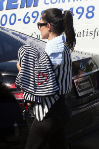 Kourtney Kardashian spotted carrying her new born baby Mason Dash Disick as she went shopping on February 25th 2010 at Fred Segal in West Hollywood 4