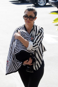 Kourtney Kardashian spotted carrying her new born baby Mason Dash Disick as she went shopping on February 25th 2010 at Fred Segal in West Hollywood 5