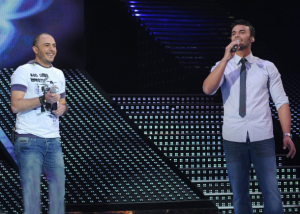 picture of the second prime of Star Academy 7 on February 26th 2010 while Ahmed Sherif sings with Mohamad Ali from Egypt