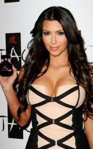 Kim Kardashian arrives at Tao Nightclub on February 27th 2010 at the Venetian Resort Casino in Las Vegas Nevada to promote her new fragrance Sephora 4