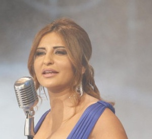 Iraqi singer Shatha Hassoun at the season two finale of Perfect Bride of 2009 at the LBC TV channel 1
