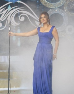 Iraqi singer Shatha Hassoun at the season two finale of Perfect Bride of 2009 at the LBC TV channel 2