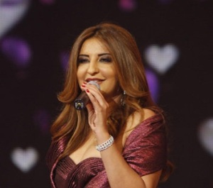 Iraqi singer Shatha Hassoun at the season two finale of Perfect Bride of 2009 at the LBC TV channel 4