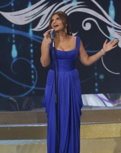 Iraqi singer Shatha Hassoun at the season two finale of Perfect Bride of 2009 at the LBC TV channel 3