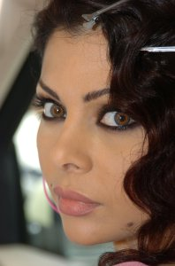 Haifa Wehbe desktop Wallpaper face close up high quality picture 2
