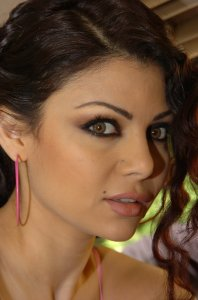 Haifa Wehbe desktop Wallpaper face close up high quality picture 1
