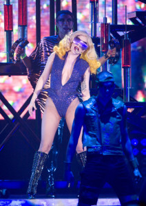 Lady Gaga picture from her performance at the Glasgows SECC concert on March 1st 2010 during her Monster Ball Tour 3