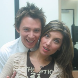 Mezhgan Hussainy picture with singer Clay Aiken