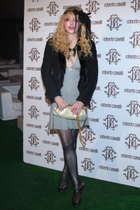 Courtney Love attends the Roberto Cavalli Autumn Winter fashion show on February 28th 2010 in Milan 3
