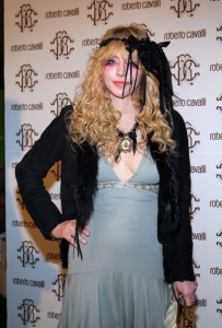 Courtney Love attends the Roberto Cavalli Autumn Winter fashion show on February 28th 2010 in Milan 2