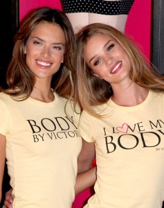 Alessandra Ambrosio and Rosie Huntington Whiteley spotted at the Victorias Secret store on March 1st 2010 in SoHo New York 5