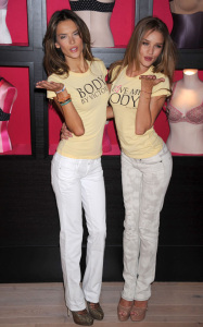 Alessandra Ambrosio and Rosie Huntington Whiteley spotted at the Victorias Secret store on March 1st 2010 in SoHo New York 2