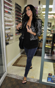 Kim Kardashian picture while on her way to the Beverly Hills Nail Salon on March 2nd 2010 in Beverly Hills California 2