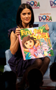 Salma Hayek at the 10th Anniversary of Dora The Explorer held on March 2nd 2010 at Nickelodeon Animation Studio 3