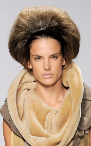 Alessandra Ambrosio picture on March 3rd 2010 while on the runway of the Giles Deacon Fall Winter fashion show 4