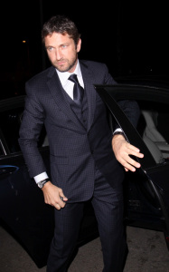 Gerard Butler spotted on March 3rd 2010 as he arrives at the Chateau Marmont pre Oscar party 3