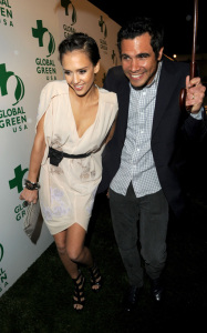 Jessica Alba and Cash Warren were spotted attending the 7th Annual Global Green Pre Oscar Party on March 3rd 2010 in Los Angeles 4