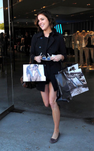 Jessica Stroup was spotted at the new Armani Exchange store on March 3rd 2010 in Los Angeles 4