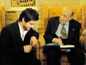 Nassif from Syria picture during his visit to legendary lenabese singer Wadih Al Safi 1