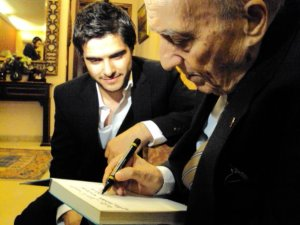 Nassif from Syria picture during his visit to legendary lenabese singer Wadih Al Safi 2