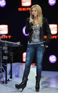 Shakira attends the 80th International Geneva Motor Show on March 3rd 2010 in Geneva Switzerland 2