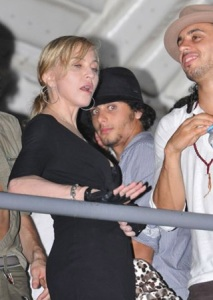 Jesus Luz and Madonna seen together at a Circus show on February 10th 2010 during the Rio festival in Brazil 10