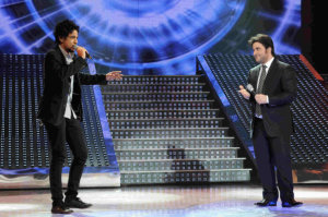 third prime of star academy 2010 on March 5th 2010 photo of Melhem Zain singing with Sultan Al Rashed from Saudi Arabia