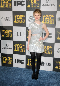 Mia Wasikowska at the 25th Film Independent Spirit Awards sponsored by Piaget held at Nokia Theatre on March 5th 2010 in Los Angeles California 4