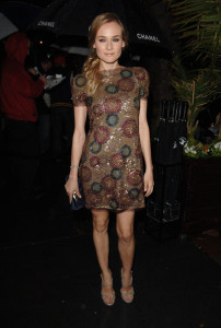 Diane Kruger arrives at the Chanel And Charles Finch Pre Oscar Party Celebrating Fashion And Film at Madeo Restaurant on March 6th 2010 in Los Angeles 5
