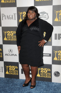 Gabourey Sidibe at the 25th Film Independent Spirit Awards sponsored by Piaget held at Nokia Theatre on March 5th 2010 in Los Angeles California 4