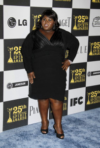 Gabourey Sidibe at the 25th Film Independent Spirit Awards sponsored by Piaget held at Nokia Theatre on March 5th 2010 in Los Angeles California 1
