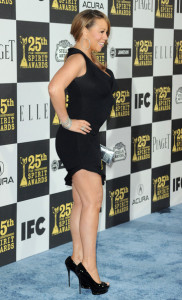 Mariah Carey at the 25th Film Independent Spirit Awards sponsored by Piaget held at Nokia Theatre on March 5th 2010 in Los Angeles California 1