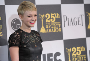 Carey Mulligan arrives at the 25th Film Independent Spirit Awards sponsored by Piaget held at Nokia Theatre on March 5th 2010 in Los Angeles California 4