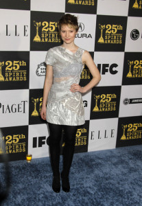 Mia Wasikowska at the 25th Film Independent Spirit Awards sponsored by Piaget held at Nokia Theatre on March 5th 2010 in Los Angeles California 2