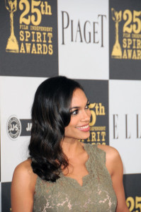 Rosario Dawson arrives at the 25th Film Independent Spirit Awards sponsored by Piaget held at Nokia Theatre on March 5th 2010 in Los Angeles California 3