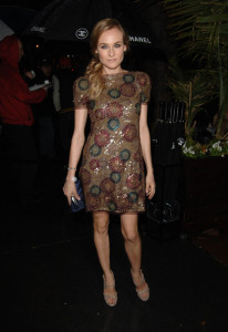 Diane Kruger arrives at the Chanel And Charles Finch Pre Oscar Party Celebrating Fashion And Film at Madeo Restaurant on March 6th 2010 in Los Angeles 2