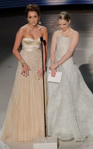 Miley Cyrus and Amanda Seyfried during the 82nd Annual Academy Awards held at Kodak Theatre on March 7th 2010 in Hollywood 6