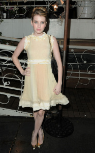 Emma Roberts at the Chanel and Charles Finch pre Oscar dinner on March 6th 2010 in Los Angeles California 2