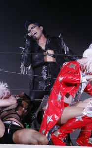 Adam Lambert picture while performing at the Gay and Lesbian Mardi Gras 2010 party festivities on March 6th 2010 in Sydney Australia 5