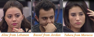 third nomination of Star Academy 2010 of Bassel from Jordan, Aline from Lebanon and Tahra from Morocco