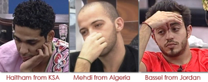 fourth nomination of Star Academy 2010 of Bassel from Jordan, Mehdi from Algeria and Haitham from Saudi Arabia