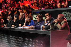 star academy fouth prime on March 12th 2010 picture of all the teachers watching the students as they perform on stage
