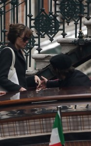 Brad Pitt and Angelina Jolie seen together on March 20th 2010 out in Venice Italy 2