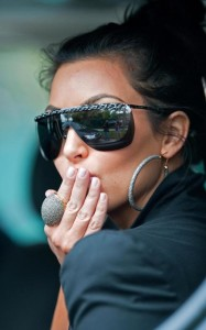 Kim Kardashian seen wearing large sun glasses on March 16th 2010 while out in Miami Beach Florida 3