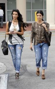 Kim Kardashian and Kourtney Kardashian spotted walking around on March 18th 2010 in Miami Florida 1