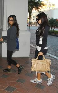 Kim Kardashian and Kourtney Kardashian spotted arriving at the David Barton Gym on March 20th 2010 in Miami Florida 1
