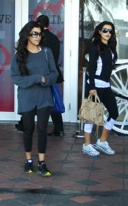 Kim Kardashian and Kourtney Kardashian spotted arriving at the David Barton Gym on March 20th 2010 in Miami Florida 2