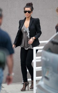 Kim Kardashian seen wearing large sun glasses on March 16th 2010 while out in Miami Beach Florida 2
