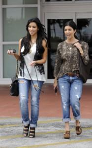 Kim Kardashian and Kourtney Kardashian spotted walking around on March 18th 2010 in Miami Florida 3