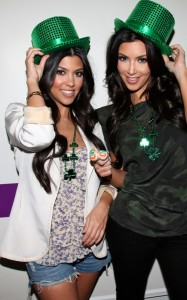 Kim Kardashian and Kourtney Kardashian photo while celebrating together on March 17th 2010 in Miami  Florida